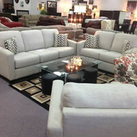 CANADIAN MADE 3 PC SOFA, LOVE SEAT, CHAIR FLOOR MODEL CLEARANCE