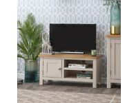 Available NOW New built grey and oak Small TV unit SALE £179 W90xD38xH45cm