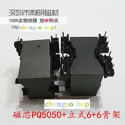 2set Pq50 66pins Ferrite Cores Bobbintransformer Coreinductor Coil Q1698 Zx