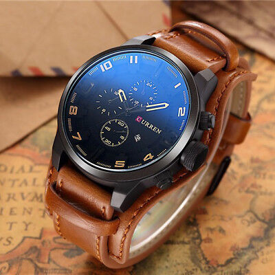 - CURREN New Sports Men's Bund Strap Quartz Date Display Waterproof Wrist Watch