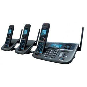 UNIDEN XDECT R R055+2  2 LINE DIGITAL CORDLESS PHONE 1.8GHZ 3 HANDSETS