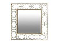 Gold Fretwork Cut Out Mirror
