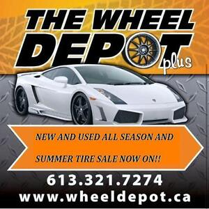 NEW AND USED ALL-SEASON TIRE AND RIM SALE NOW ON !!
