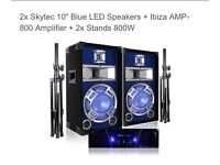 Speakers and amp - 1000w party set