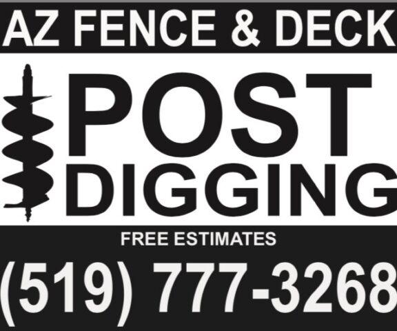 Az Post Hole Digging Fence Deck Railing Amp Siding London Kijiji