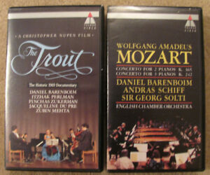 2 classical music vhs tapes in MINT condition