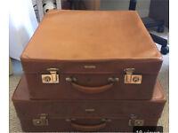 2 Vintage Antler Suitcases