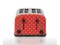 Polka dot kettle and toaster New in box