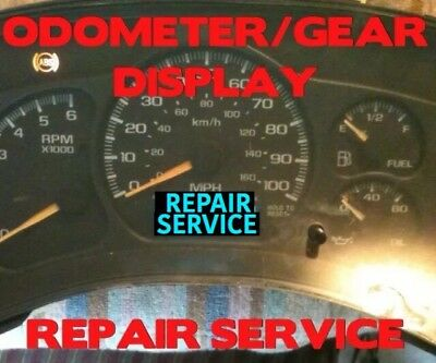 REPAIR DISPLAY 1999-2002 GM SILVERADO SIERRA GAUGE CLUSTER ODOMETER 99 00 01 02