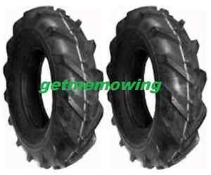 (2) Carlisle 4.80-4.00-8 (480-8) Super Lug  2 Ply Tires; Tractors and Tillers