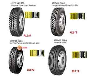 NEW TIRES 11R22.5 11R24.5 315/80R22.5 (STEER, DRIVE & TRAILER)
