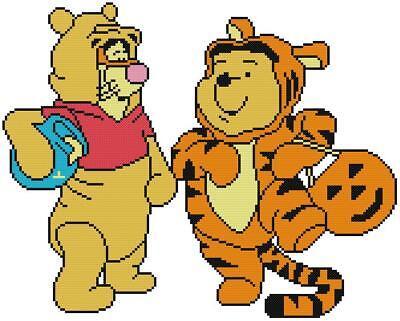 CROSS STITCH+ CRAFT PATTERN Tigger Tiger Winnie Pooh Bear Halloween Costumes