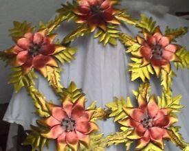 Large poinsettia door wreath