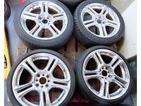 "17"" 4x114.3 7J Chrome Alloy Wheel ET38 Nissan Mitsubishi Volvo Smart For Four 04-06"