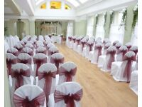 Cheap Chair Cover Hire 79p Wedding Stage Uplift Hire £299 Stage Decoration Marquee Rental 80 Guests
