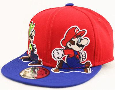 Kinder Jungen Mädchen Super Mario Bros Snapback Baseball Cap Hat Mütze Kappe Hut ()