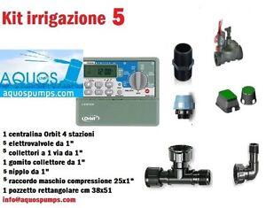 Kit irrigazione 5 settori zone giardino prato verde for Irrigazione prato fai da te