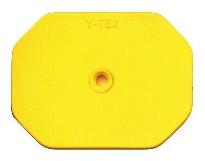 New - Y-tex Ear Tags - Blank Swine Star Yellow 25 Ct 5713