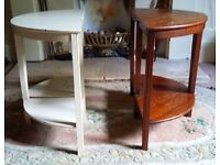 2 Half moon bedside tables