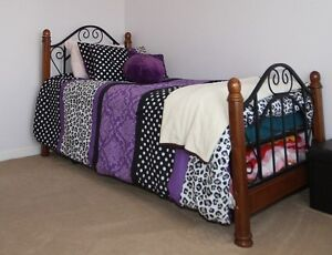 Twin bed with pull out