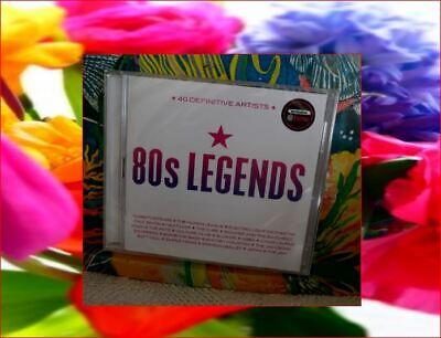 "2xCD New Sealed FastFreepost ""80s LEGENDS"" Rare boxset 40 Hits ABBA Blondie UB40"
