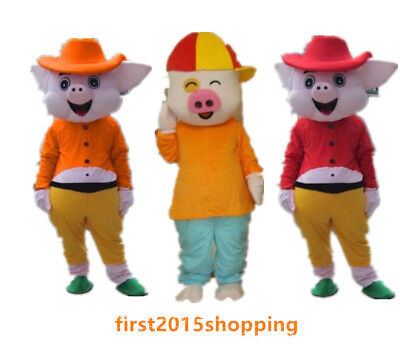 Hot Cute Sun Pig Cartoon Mascot Costume New Year  Fancy Party Adult Dress Gifts