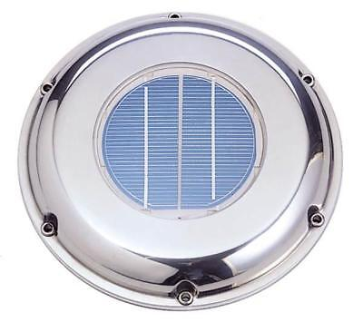 Solar Ventilation Fan Svt-224s Stainless Steel W Battery - Roof Boat Rv Vent