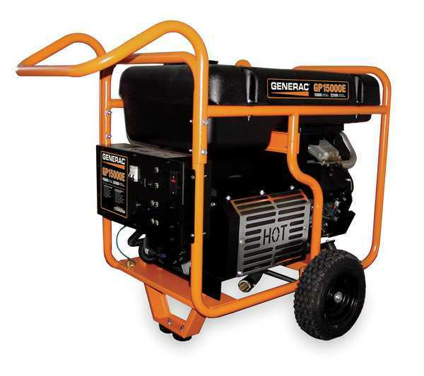 GENERAC 5734 15000W Gas Portable Generator 120/240VAC Electric
