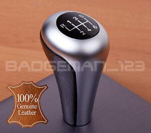 bmw manual 6 speed genuine leather gear knob shift e60 e46 e39 e90 e92 e91 z4 ebay. Black Bedroom Furniture Sets. Home Design Ideas