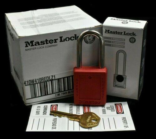[Pack of 6] Master Lock 410RED KD Safety Lockout Padlock 410W410REDLZ1