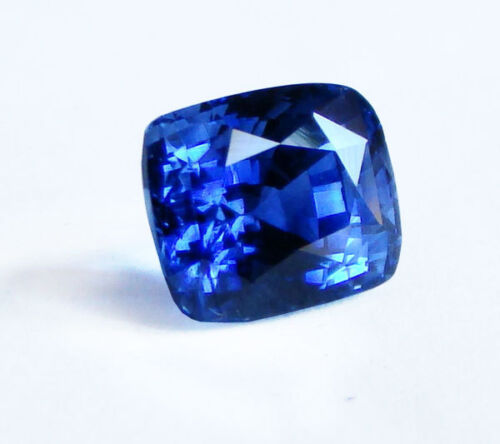 Lab Created Synthetic Blue Sapphire Diffusion Cushion Loose Stone(6x6-16x12mm)