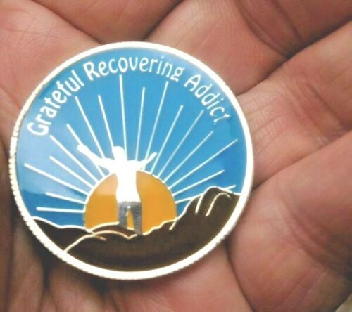 Narcotics Anonymous GRATEFUL ADDICT TRIPLATE Recovery MEDALLION
