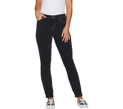 Logo Skinny Jean - A294494 LOGO by Lori Goldstein Stretch Denim 5-Pocket Skinny Jeans-336
