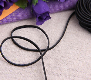 18 Metres Black Faux Suede Leather Flat Thread Lace Cord String 2mm
