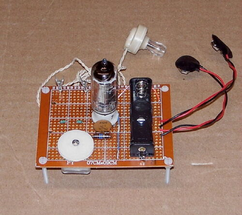 LOW COST school science fair UNBUILT - VACUUM TUBE vintage AM radio receiver kit