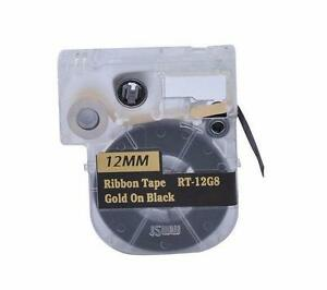 Ribbon LC Cartridge compatible for Epson LC-4BKK5 Gold on Black for Epson LabelWorks LW400/700/600P/1000P (RT-12G8)