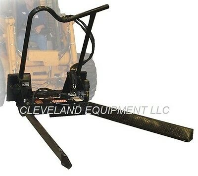 Bradco Tree Nursery Forks Attachment John Deere Skid Steer Loader Tree Ball Jaws