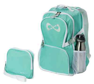 Nfinity Princess Backpack with Rhinestone Logo, Teal, New, Cheerleader Bag