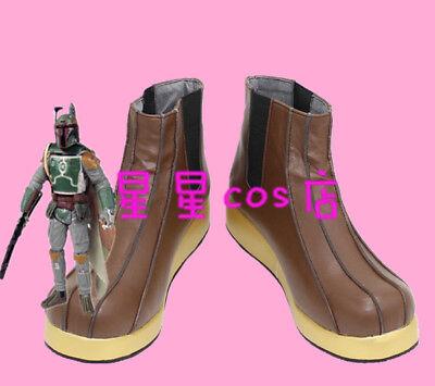 New !  Star Wars Boba Fett Cosplay Shoes  Boots Custom Made](Boba Fett Costume)