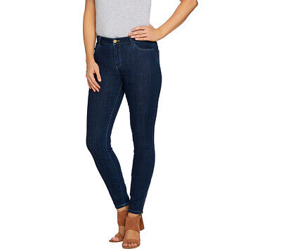 Logo Skinny Jean - A286975 LOGO by Lori Goldstein 5-Pocket Skinny Jeans w/ Zipper Detail-341