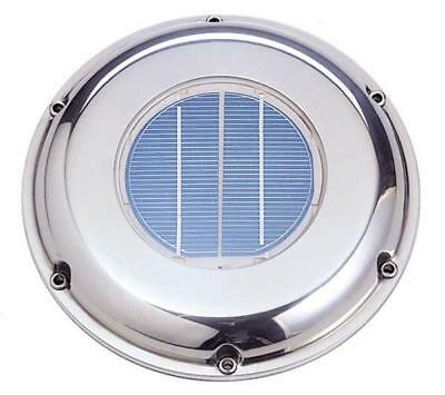 Solar Ventilation Fan Sv-212s Stainless Steel - Roof Attic Boat Rv Vent