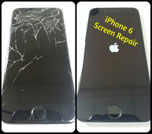 Cracked screen? Water Damage? iPhone LCD replacemen under 1 hour