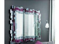 Dwell Mosaic Mirror Aubergine and Grey | RRP £249