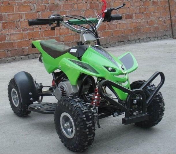 New Kids 50cc Mini Moto Quad Bike Mini Street Assassin Petrol Green