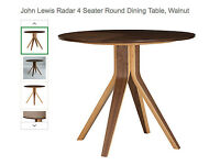Wales & Wales for John Lewis 4 Seater Round Dining Table