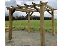 new 2.4m x 2.4m wooden hot tub bbq shelter pergola