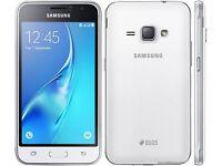Brand New White Samsung Galaxy J1 Duos 8GB Dual Micro Sim 5MP Camera Android Smartphone Unlocked