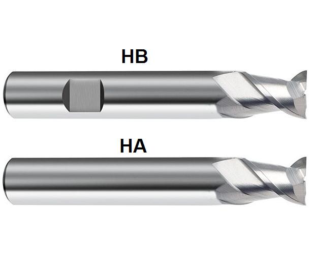 Gühring VHM Hartmetall ALU Langlochfräser Fräser  D=2mm - 20 mm Z=2 kurz wählbar