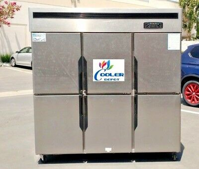 New Commercial 6 Door Refrigerator Freezer Combo Restaurant Kitchen Model R46