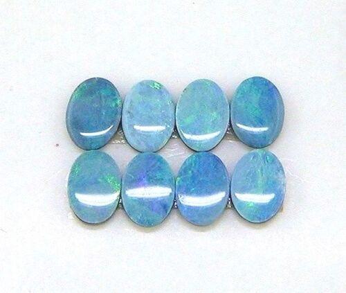 (8 ) 7 x 5 Oval Natural Boulder Opal Doublet #120